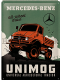 Mercedes Benz All Wheel Drive Unimog large embossed steel sign  400mm x 300mm (na)